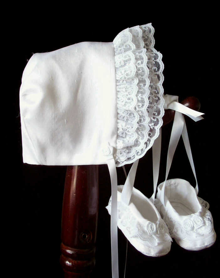 silk bonnet shoes